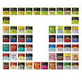 Geenbow Bigelow Tea Sampler 54 Classic Flavor Assortment Tea Bags in Foil with Rich Flavor Variations and Gift Box